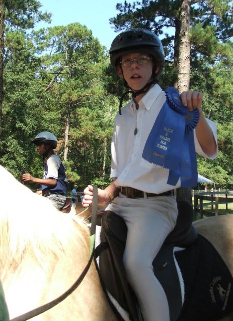 Lancelot's first horse show!
